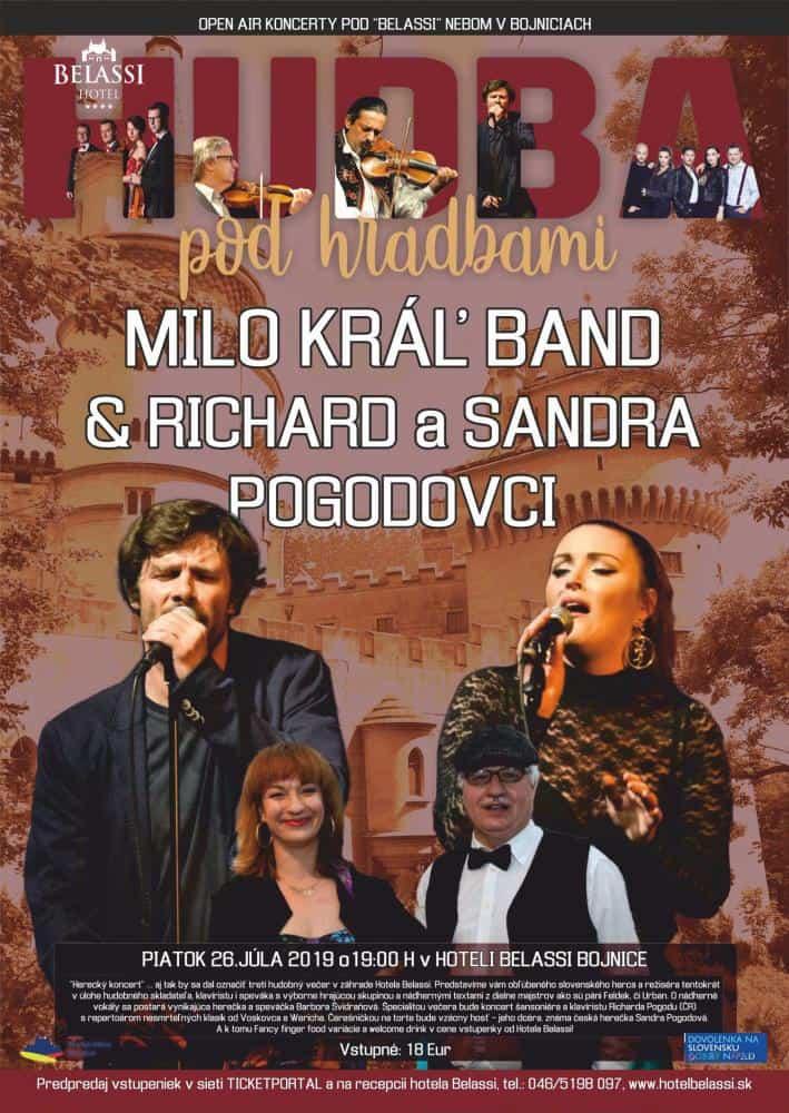 Milo Kráľ Band & Richard a Sandra Pogodovci 26.7.2019